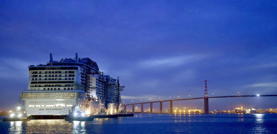 msc meraviglia cruise ship exterior