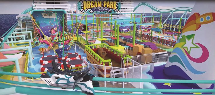 Dream Park at the Pier will feature the world's longest roller coaster at sea