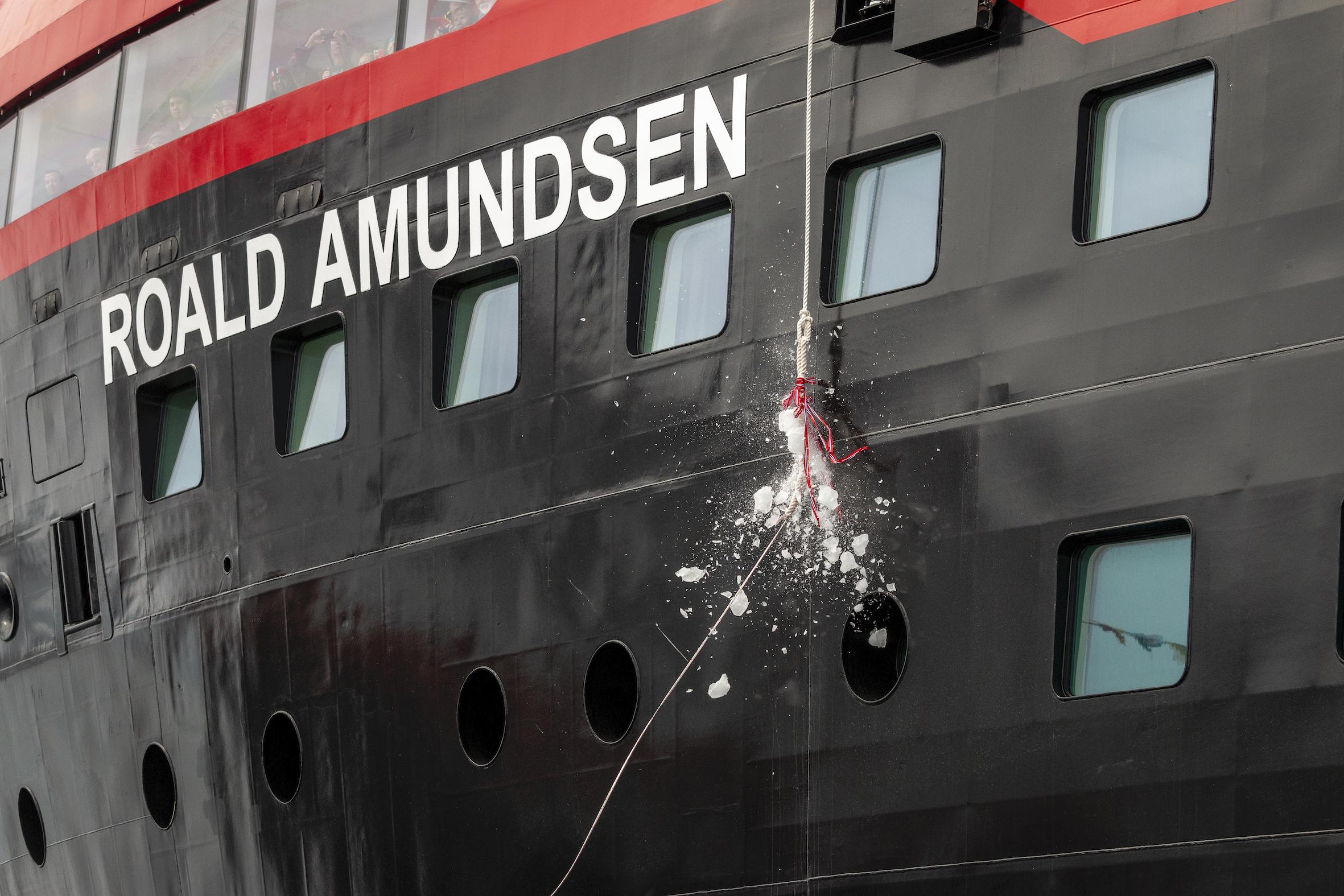 Hutigruten Cruises Roald Amundsen cruise ship Christening
