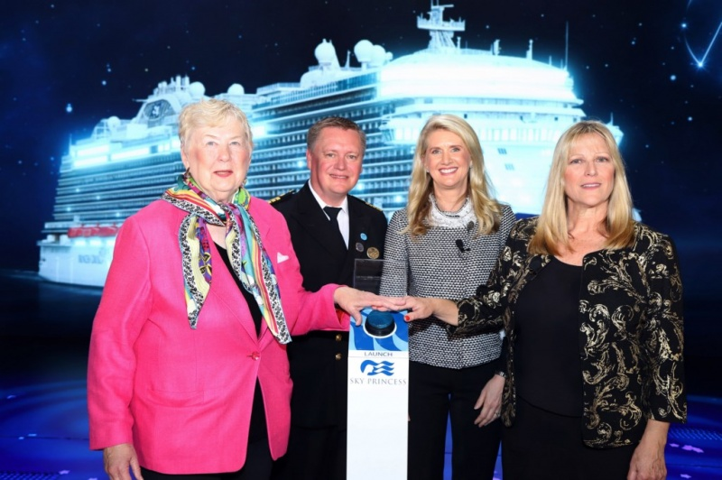 Christening Sky Princess cruise ship NASA women