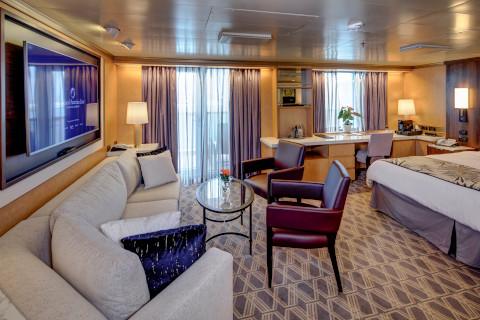 Holland America Noordam cruise ship large suite