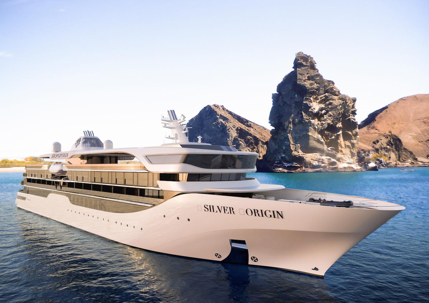 silversea origin cruise ship exterior bow