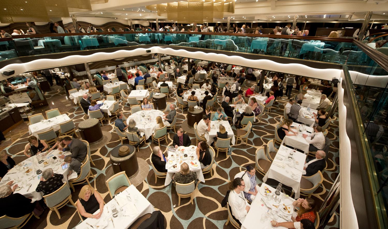 Carnival Cruises Sunrise cruise ship dining room