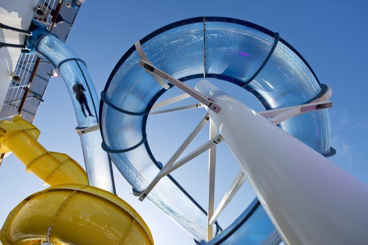 Carnival Cruises Sunrise Cruise ship waterpark waterslides