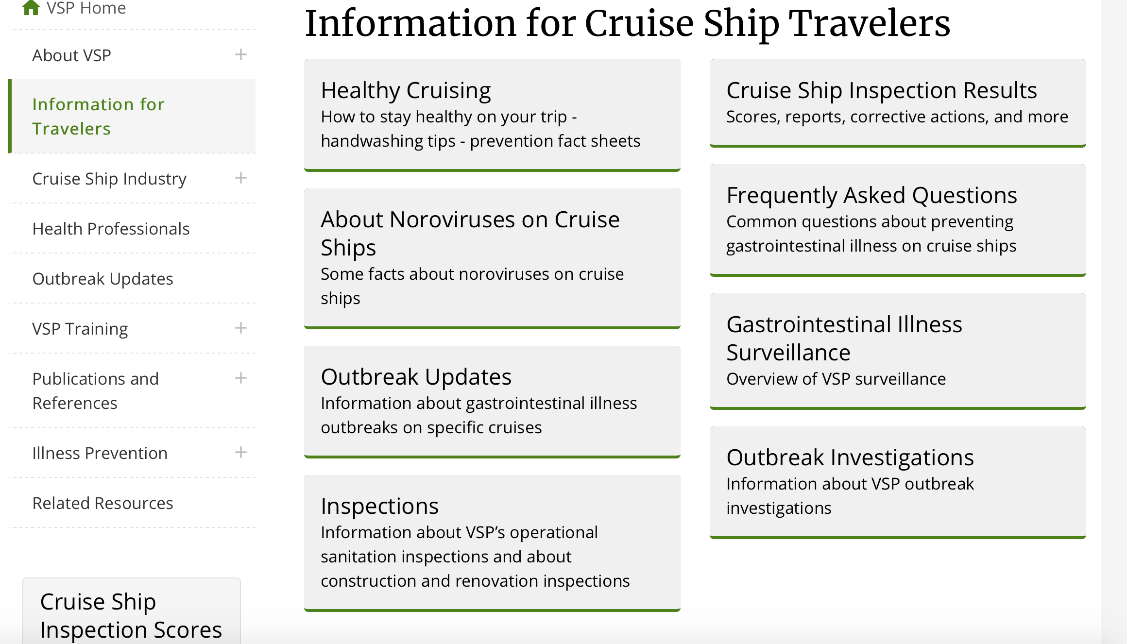 Healthy cruising tips from CDC