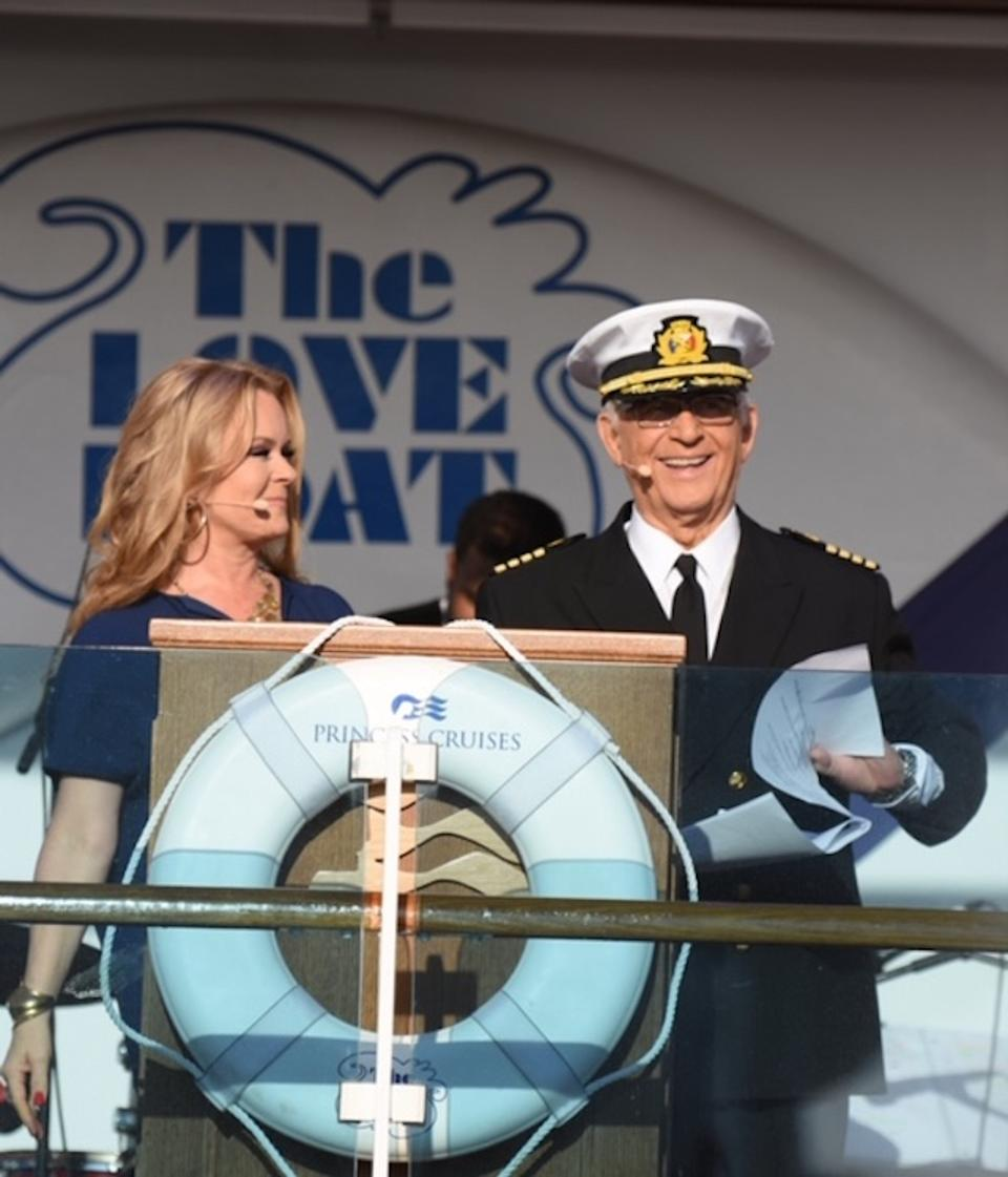 Princess cruises vow renewal Love Boat Gavin MacLeod Julie Whelan