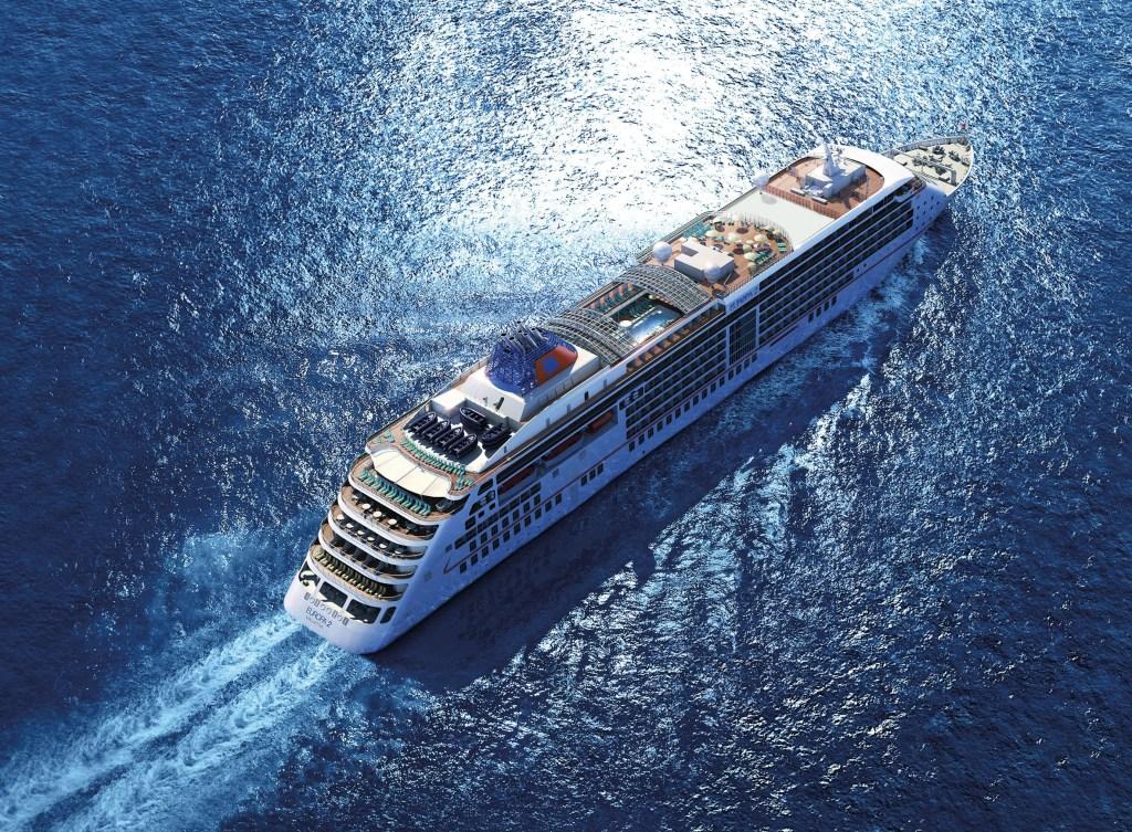 Hapag-Lloyd Cruises MS EUROPA 2 Aerial view