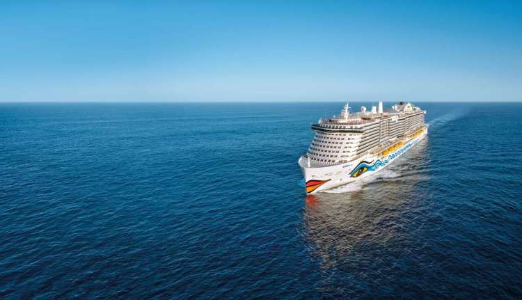 Aida Cruises AidaBlu aerial