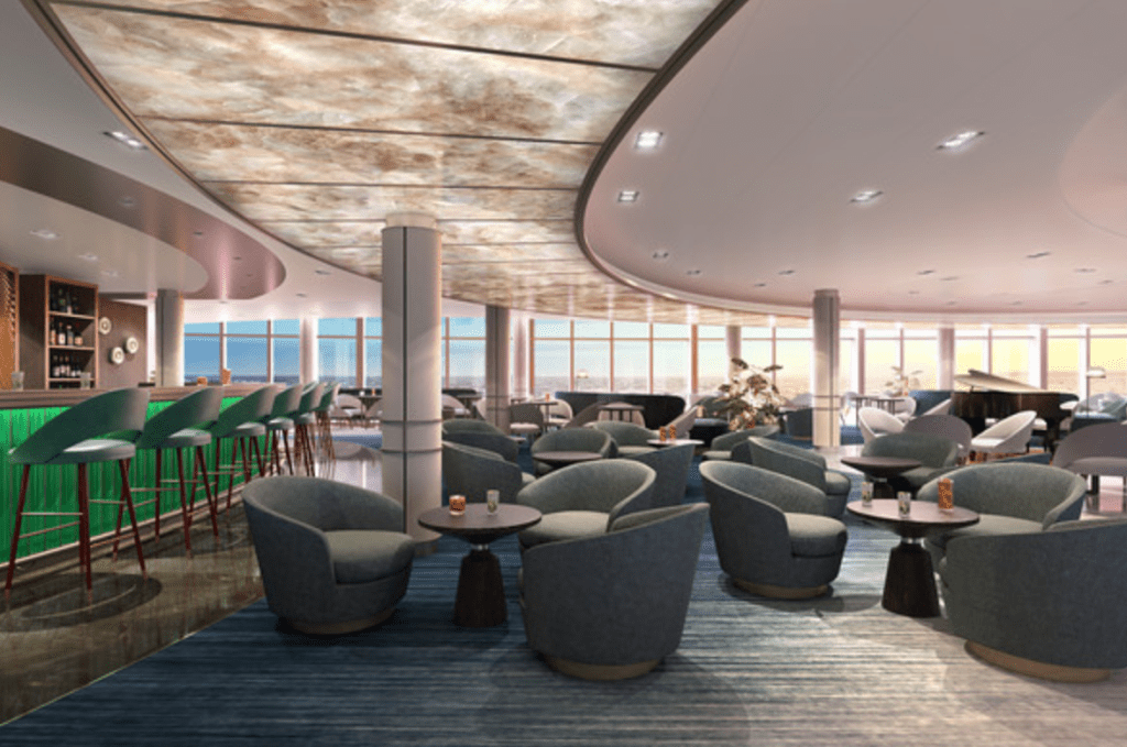 P&O Cruises Iona lounge area