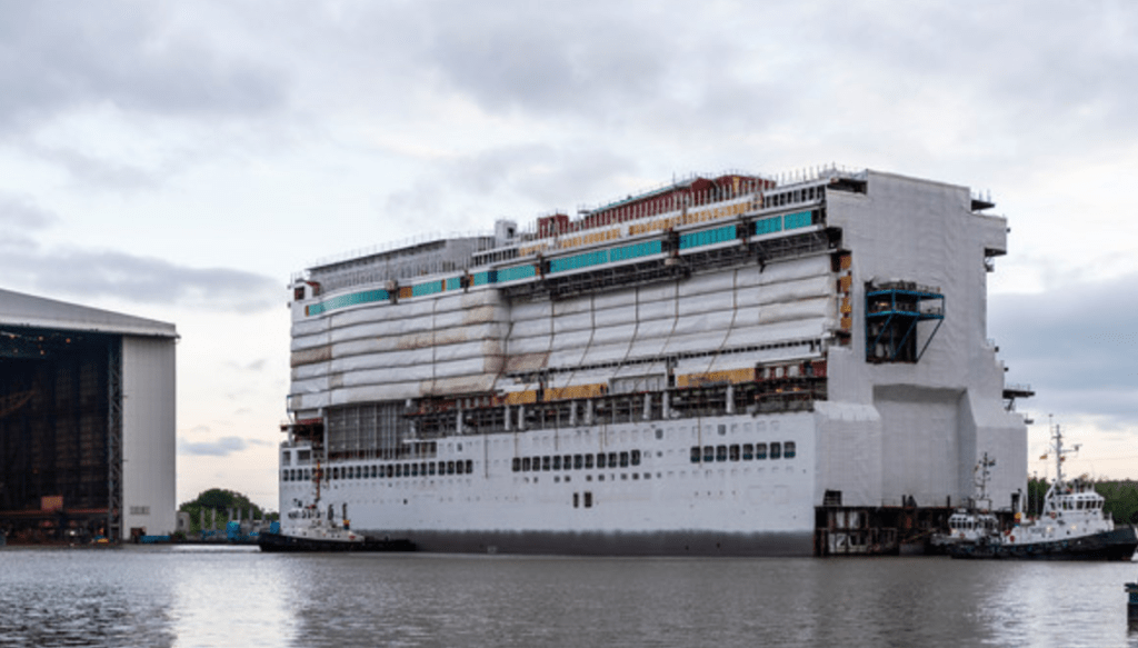 P&O Cruises Iona construction